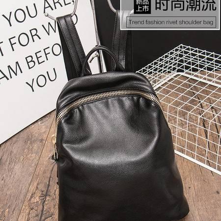 包邮  嘉诗纳双肩包2016新款潮韩版学院风简约女士背包真皮女包牛皮旅行包