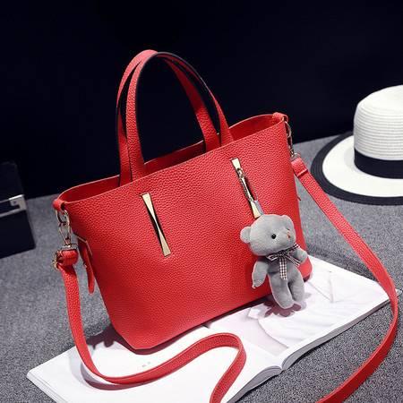 包邮 淑女芭莎包包女2016新款包中包子母包时尚单肩手提女包欧美风范大气女士包