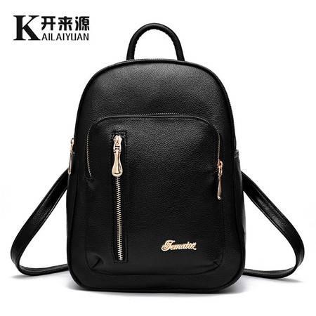 包邮  淑女芭莎 女士双肩包韩版背包学院风旅行pu皮书包一字背包