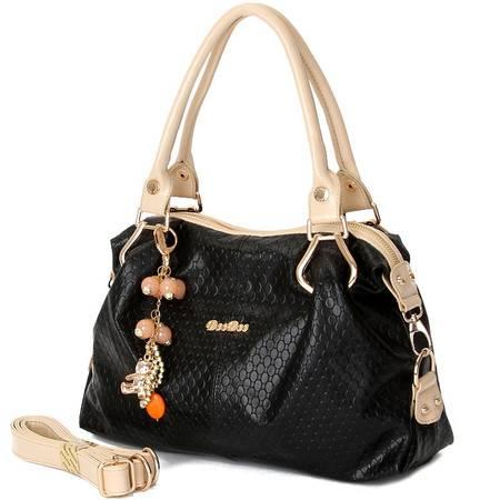 包邮 DOODOO新款韩版休闲包软皮包单肩包斜挎手提包淑女女包潮流时尚多用大包