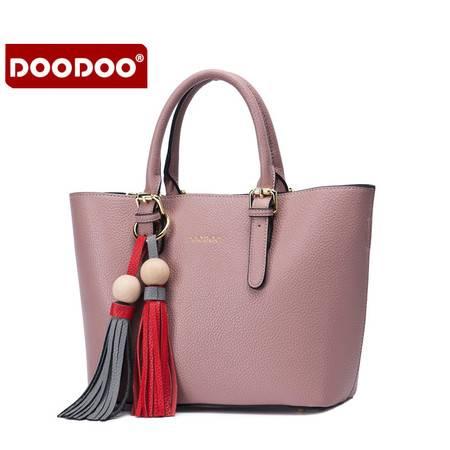 包邮 DOODOO2016年秋冬新款斜挎单肩手提大容量子母女包