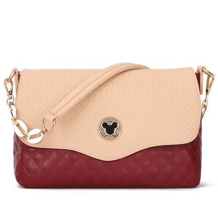 包邮 DOODOO2016款米奇锁糖果色小包菱格链条单肩包斜挎包女士休闲女包