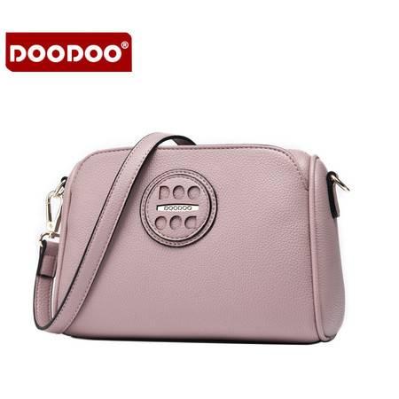 包邮 DOODOO2016新款包包时尚秋季多层软皮女包简约百搭单肩斜挎小包潮