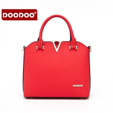包邮 DOODOO包包2016新款时尚女包简约商务ol通勤手提单肩斜挎女士包潮