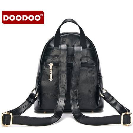 包邮 DOODOO双肩包女韩版2016百搭新款小羊纹潮时尚学院风PU小背包女包