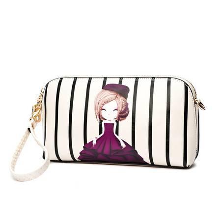 包邮 DOODOO新款手包韩版印花卡通可爱手挽包手抓包单肩斜挎女士包包