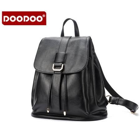 包邮 DOODOO背包女双肩包2016新款秋时尚韩版百搭休闲学院风女士旅行包
