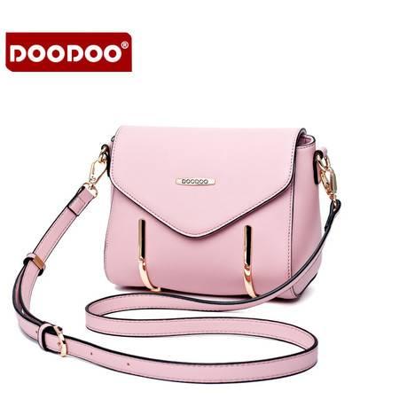 包邮 DOODOO2016新款时尚小方包日韩百搭单肩斜挎小包包韩国简约潮女包