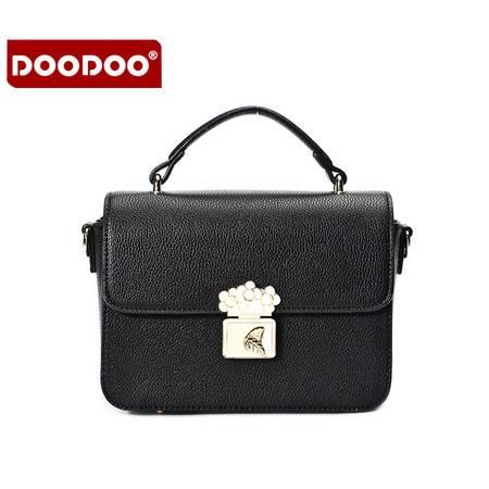 包邮 DOODOO2016新款女包冬季日韩斜挎单肩包潮女士小包包冬斜跨小方包
