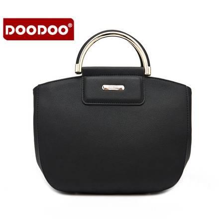 包邮 DOODOO包包2016新款欧美时尚手提包简约OL风单肩包斜挎小包潮女包