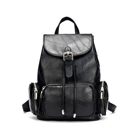 包邮 DOODOO韩版女士双肩包软皮pu小背包时尚休闲旅行包潮学院风女两用