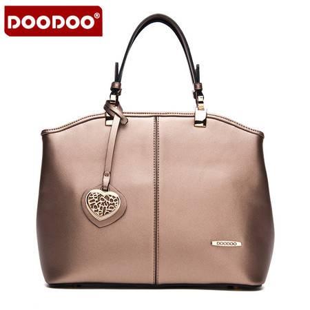 包邮 DOODOO包包2016新款 百搭女包单肩手提贝壳包斜挎女式大包包潮