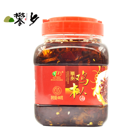 四川攀枝花特产美食小吃零食麻辣野生新鲜鸡枞菌即食食用菌油480g