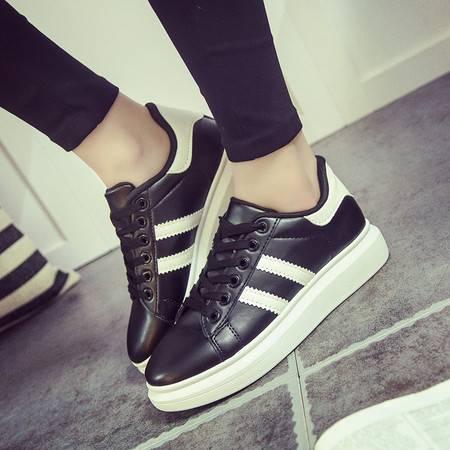 RA2016新款小白鞋女韩版厚底运动鞋潮休闲板鞋学生增高跑步单鞋