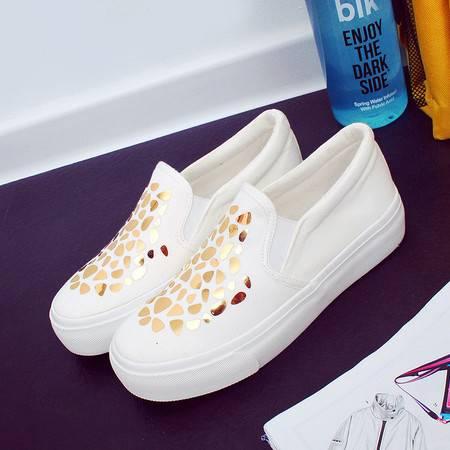 RA小白鞋韩版女帆布鞋白色板鞋平底乐福鞋一脚蹬懒人鞋休闲女鞋