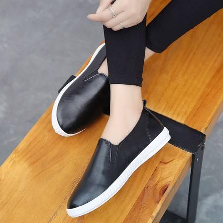 RA韩版小白鞋帆布鞋女单鞋休闲套脚鞋平底女鞋子学生乐福鞋
