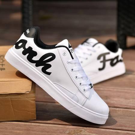 HD青少年男士休闲鞋透气白韩版潮流学生运动板鞋男鞋单鞋