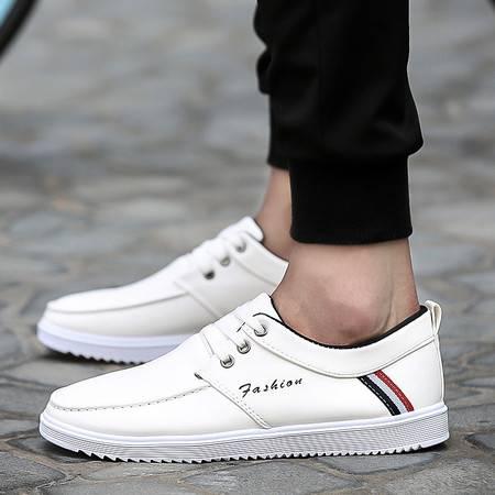 HDHD夏秋季新品男士帆布鞋英伦低帮板鞋韩版潮流透气皮鞋