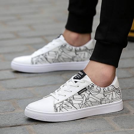 HD2016新款学生板鞋 男生帆布小白鞋 潮流透气休闲男鞋