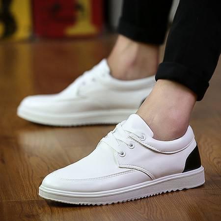 HD新款2016男鞋 韩版潮男士运动休闲鞋低帮透气男板鞋白鞋