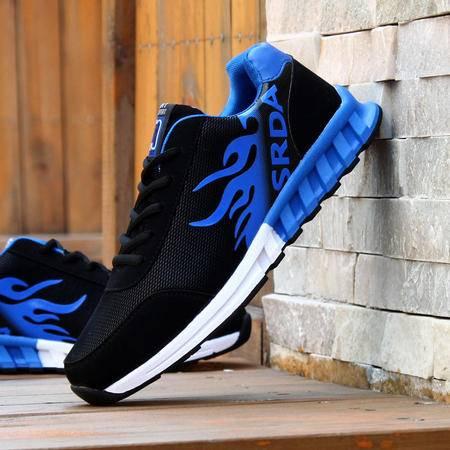 AW青年男士潮流运动鞋春秋网布透气休闲男鞋时尚个性跑鞋子