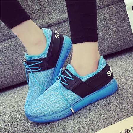 JW新款休闲鞋女韩版内增高透气跑步鞋秋季平跟学生鞋