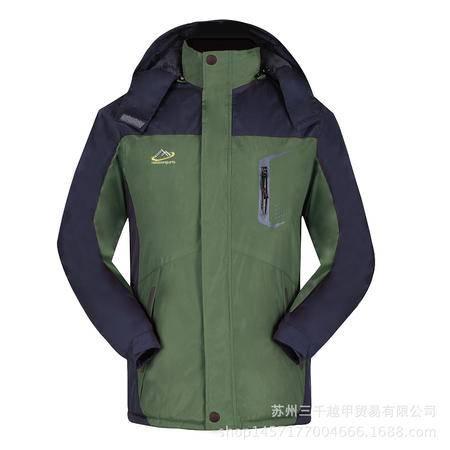 SQ冲锋衣男女三一两件套秋冬新款加绒加厚冲锋衣工作服棉衣
