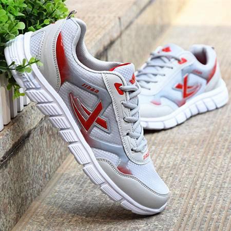 XJW新款男士运动板鞋百搭透气网布跑步鞋旅游鞋低帮单鞋男鞋子