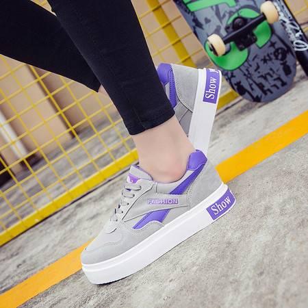 KH新款学生板鞋厚底运动鞋松糕鞋韩版拼色旅游休闲鞋252