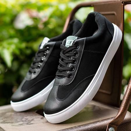 DR新款板鞋男士休闲鞋黑色透气百搭潮流学生鞋低帮运动男鞋