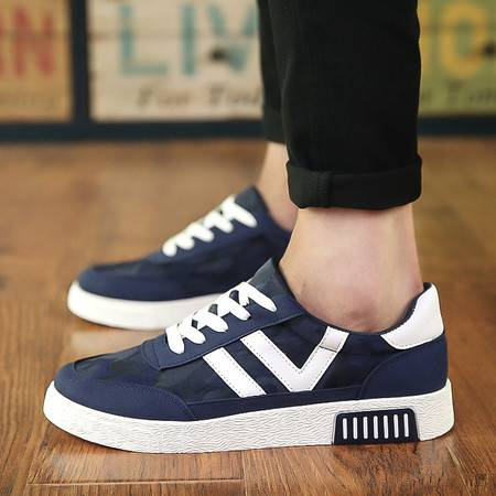 DR秋季新款学生帆布鞋潮流韩版男鞋休闲低帮透气男板鞋