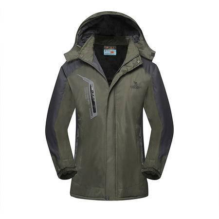 DM新款冲锋衣登山服滑雪服 保暖抓绒户外运动服 冲锋衣