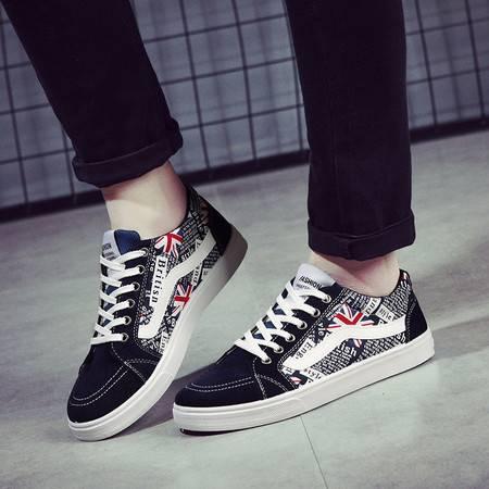 RM新款男鞋韩版潮流运动鞋男士休闲鞋拼色帆布鞋学生字母鞋