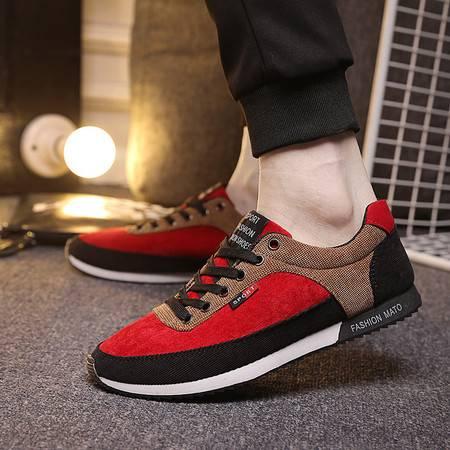 RM春季新款男鞋 韩版潮流透气男休闲鞋拼色男士帆布鞋潮男板鞋