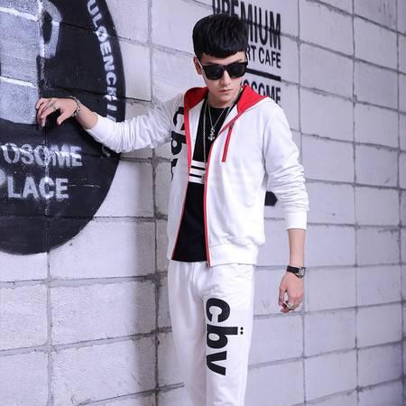 LK时尚春秋季经典款CBV字母运动套装 男士休闲运动服 男装
