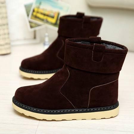 RM秋冬保暖韩版马丁靴加绒男士短靴潮男士工装靴高帮男靴子