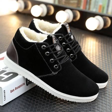 XP冬季新款加绒板鞋男士休闲鞋男鞋子潮流行韩版加厚保暖棉鞋男生