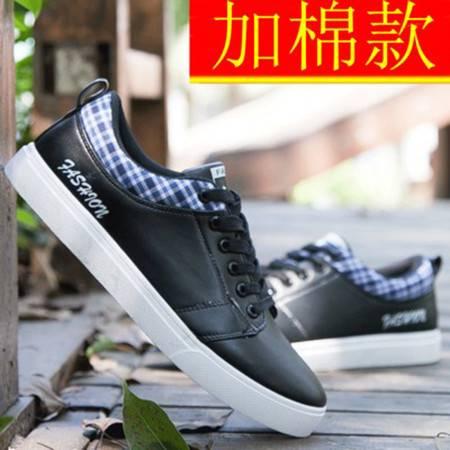 WF秋冬季保暖加绒棉鞋男士帆布鞋男鞋休闲鞋时尚潮流板鞋812