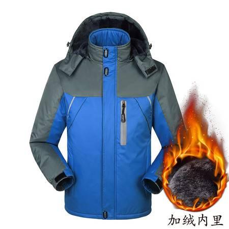 BL户外运动棉衣男加绒加厚毛内胆棉服保暖服 男装外套