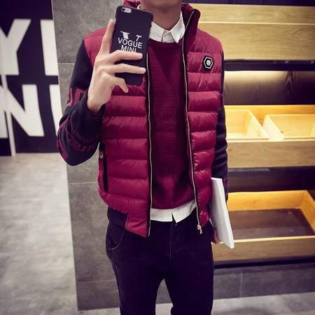 LQ新款加绒塞棉外套韩版修身男士羽绒棉衣时尚休闲棉服潮男装