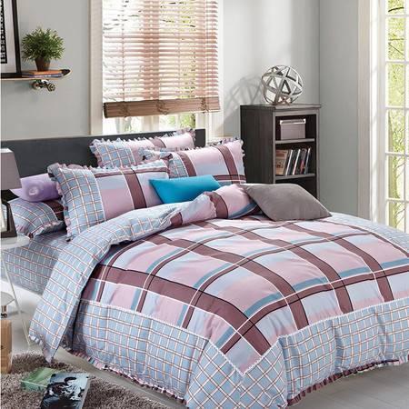 智佳 四季可用床上四件套 家纺简约双面被套 200*230 支持定制