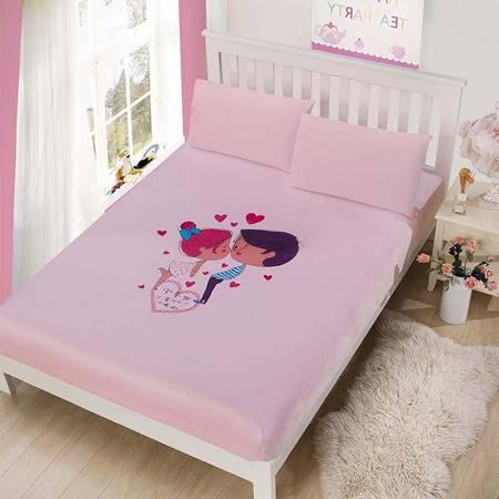 水晶绒大板花绒保暖床笠 加厚 柔亲肤 舒适不掉毛1.8米床
