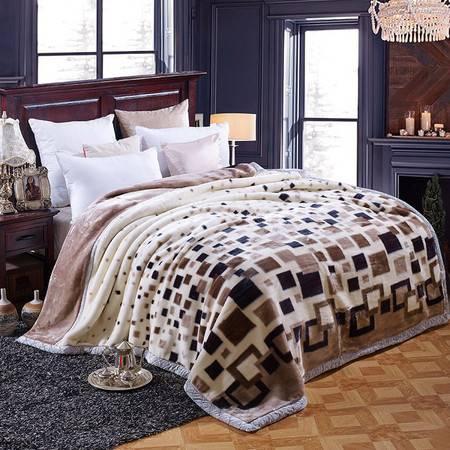 智佳  拉舍毛毯 单双人加厚加重毛毯