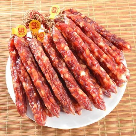旗峰腊味 生晒豉油鲜肉二八加瘦香肠 广式略带咸味腊肠500g袋装