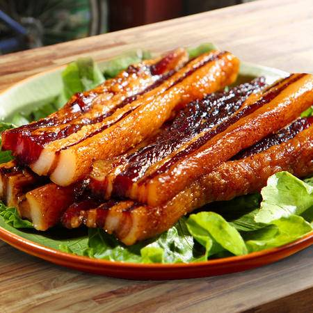 旗峰腊味 东莞特产传统美食五花腩肉鲜肉精制 咸味腊肉500g盒装