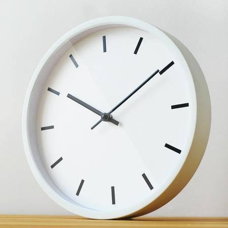 金属简约客厅静音石英挂钟时钟 精工机芯 日式无印基本良品生活风