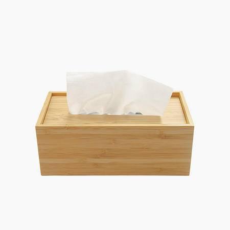 自然能量 浮盖设计 新款长方形竹木创意纸巾盒 抽纸盒 纸巾套