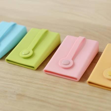 硅胶按扣钥匙包卡包钥匙扣公交门禁刷卡日式无印基本良品生活风