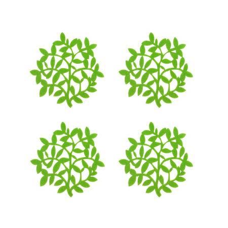 自然能量/羊毛毡杨柳杯垫4枚/日式良品简约基本生活无印风