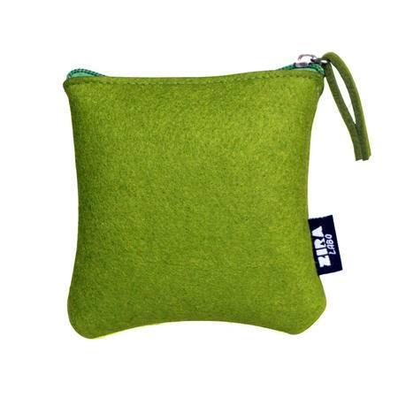 简约羊毛毡收纳包 化妆包 方 日式无印基本良品生活风